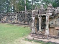 Siem Reap, Angkor Thom, Elefanten Terrasse