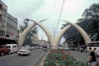 Mombasa, Moi Ave, Stosszähne