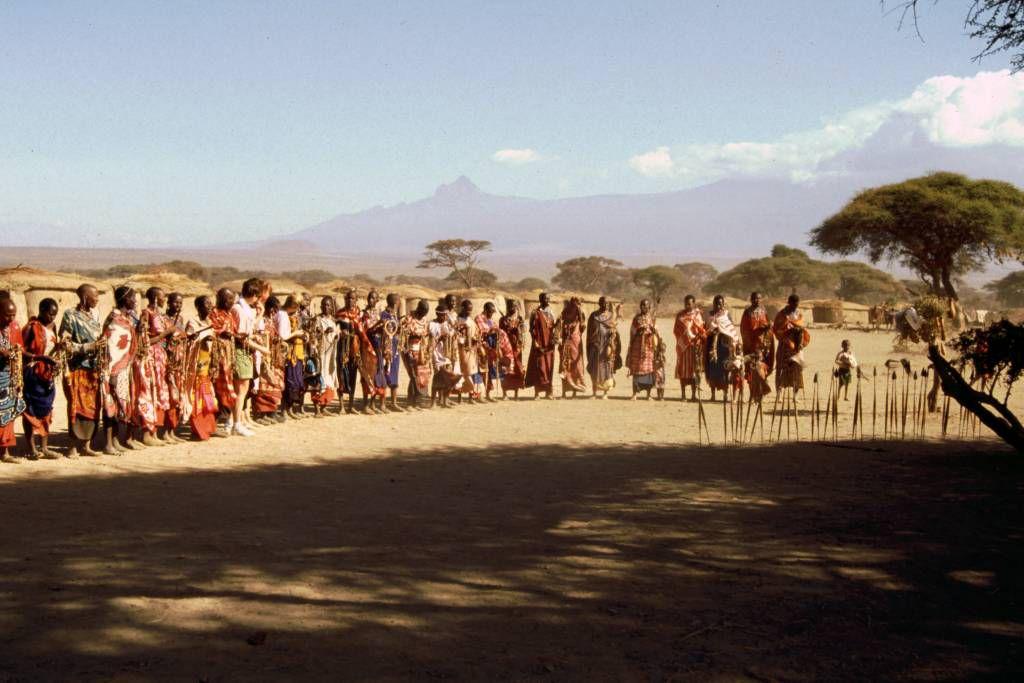 Amboseli Nationalpark, Masai Dorf