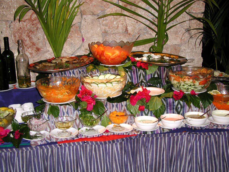 Salatbuffet im Bahari Beach Hotel