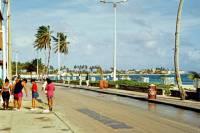Kolumbien, San Andres, Strandpromenade