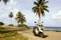 Kolumbien, San Andres, um die Insel mit dem Motorroller (ca. 12Km)