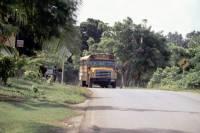 Kolumbien, San Andres, um die Insel mit dem Motorroller (ca. 12Km), ein Schulbus