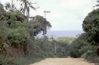 Kolumbien, San Andres, um die Insel mit dem Motorroller (ca. 12Km), Blick über die Insel