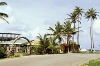Kolumbien, San Andres, um die Insel mit dem Motorroller (ca. 12Km), Restaurant im Süden