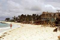 Kolumbien, San Andres, um die Insel mit dem Motorroller (ca. 12Km), Strände