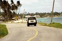 Kolumbien, San Andres, um die Insel mit dem Motorroller (ca. 12Km), Polizei