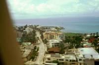 Kolumbien, San Andres, der Rückflug, Blick auf den Hauptort