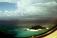 Kolumbien, San Andres, der Rückflug, Blick auf Johnny Cay
