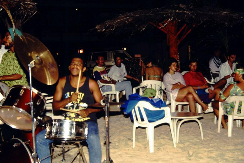 Kolumbien, San Andres, Hotel Decameron San Louis, Abendunterhaltung am Strand