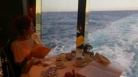 MSC Splendida, beim Frühstück