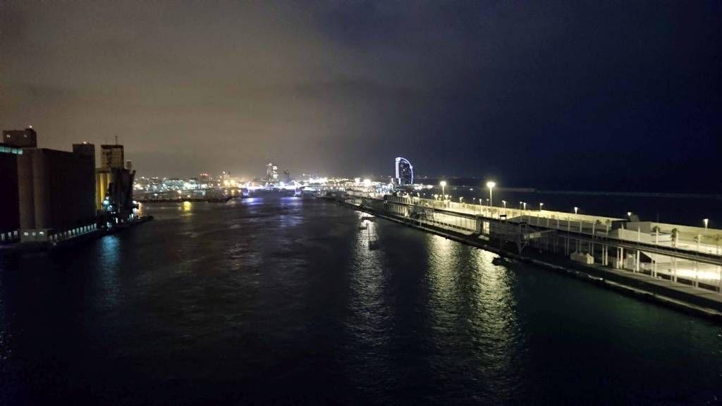 Barcelona, Hafen am Abend