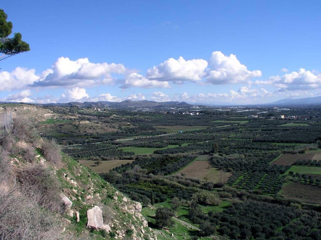 Kreta, Ausblick vom Palast des Knossos