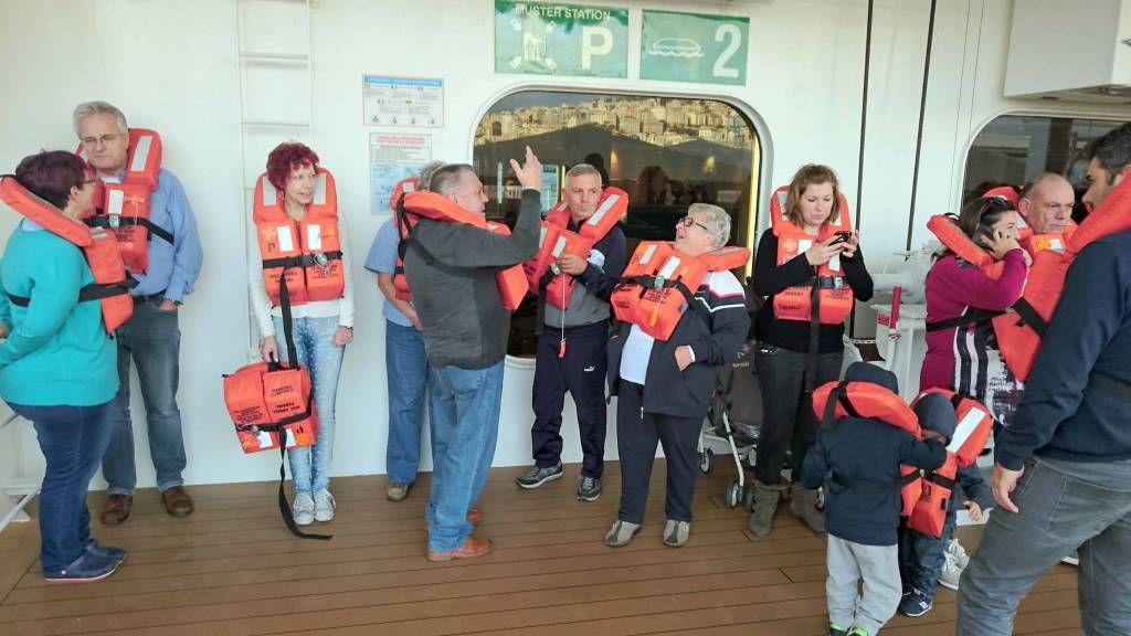 MSC Opera, Rettungsübung