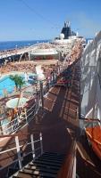 MSC Poesia, auf See, an Deck