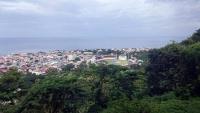 Dominica, Upper King's Hill, Blick auf Roseau