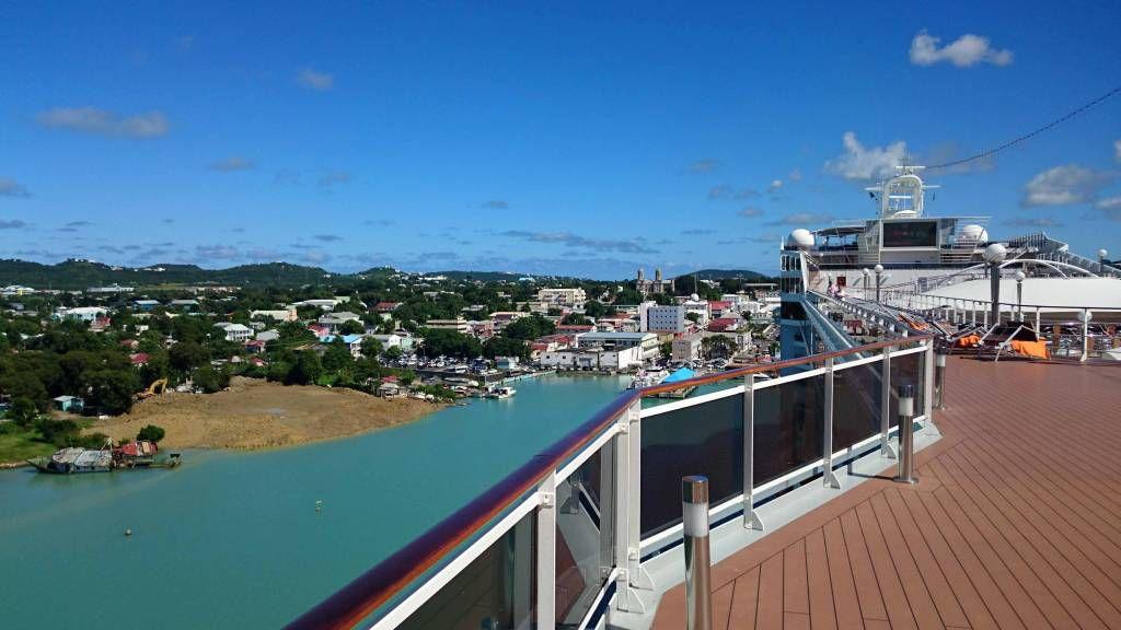 Antigua und Barbuda, Saint John's, Aussicht von Deck
