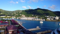Britische Jungferninseln, Road Town, Blick auf den Ort