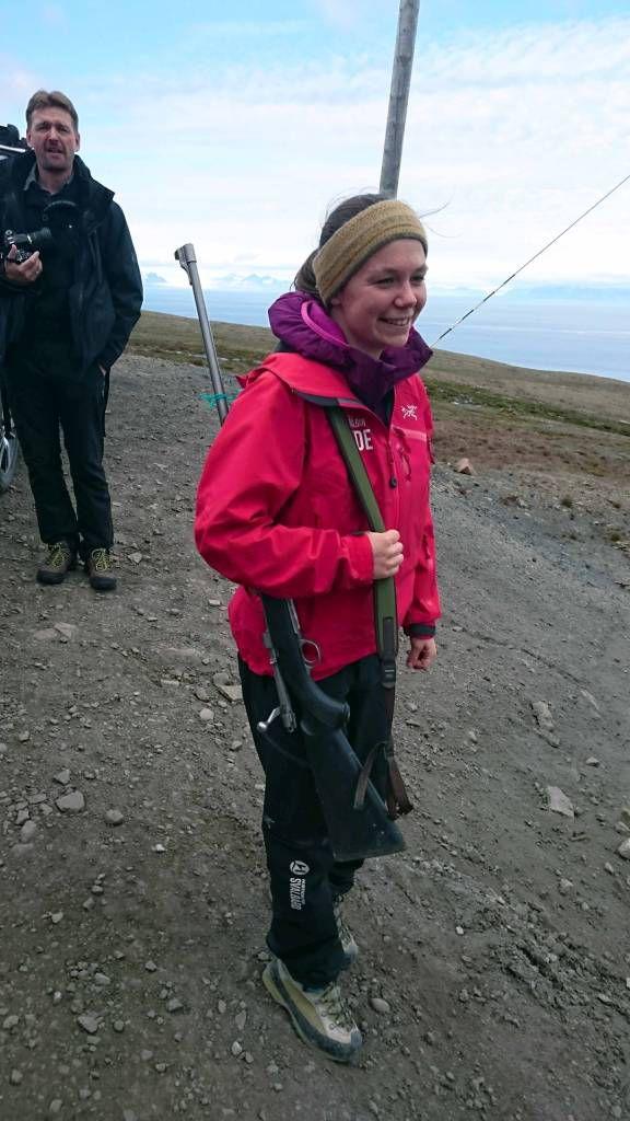 Spitzbergen, Longyearbyen, unsere Beschützerin vor Eisbären