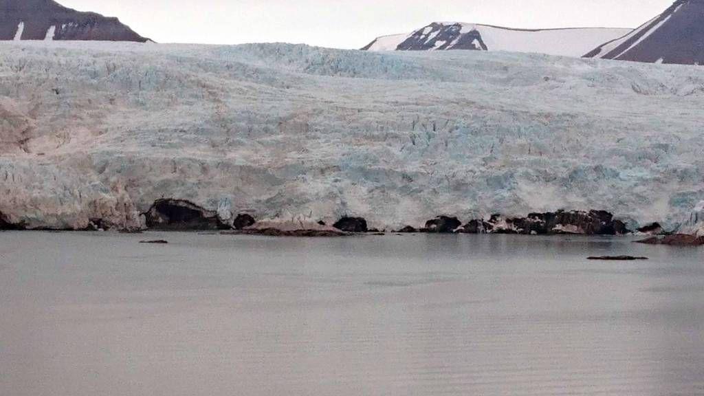 Spitzbergen,Pyramiden, Gletscher