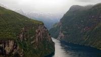 Geiranger, Blick auf den Fjord