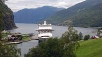 Flåm, Blick auf den Fjord