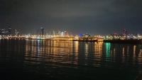Abu Dhabi, Skyline bei Nacht