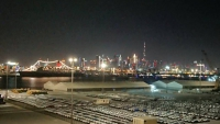 Dubai, Skyline bei Nacht