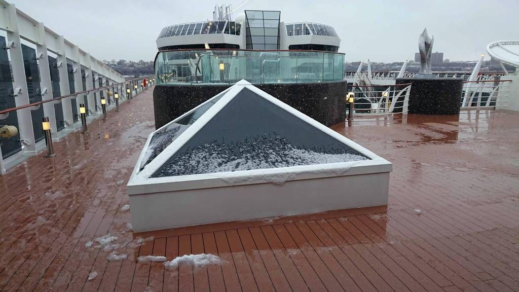 New York, Schnee an Bord der MSC Divina