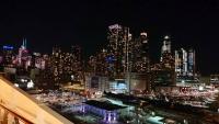 New York, Manhattan bei Nacht