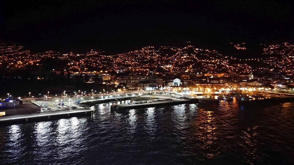 Madeira, Funchal bei Nacht