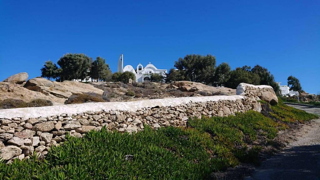 Mykonos, Kalafati Strand, Kirche