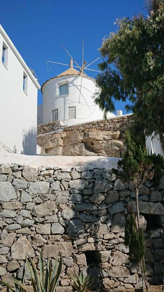 Mykonos, Kalafati Strand, Windmühle