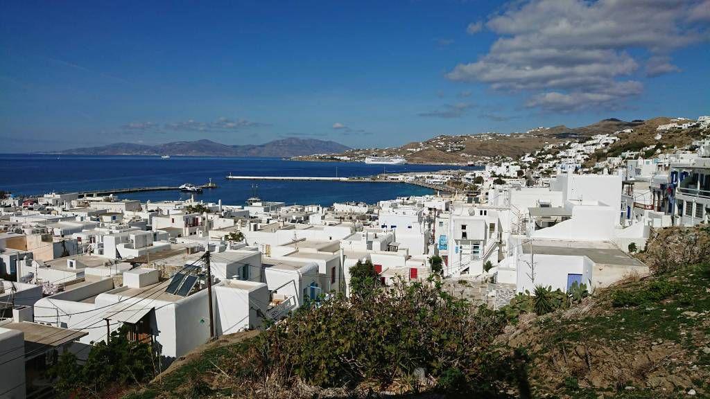 Mykonos, Blick über Mykonos Stadt