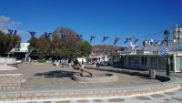 Mykonos, Ano Mera, Dorfplatz
