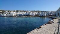 Mykonos, Mykonos Stadt, Gebäude am Hafen