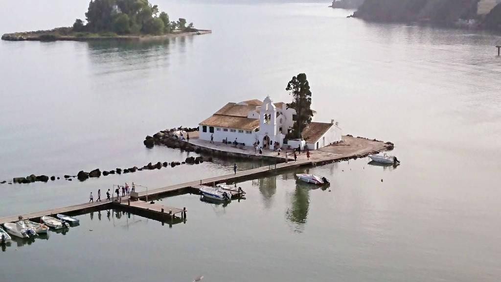 """Korfu, Kloster Vlacherna, die """"Mäuseinsel"""""""