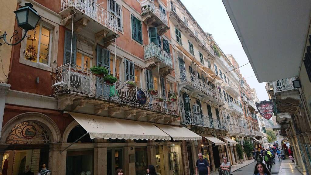 Korfu, Korfu Stadt, Straßenzug