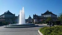 Kopenhagen, Sprinbrunnen nahe Schloß Amalienburg