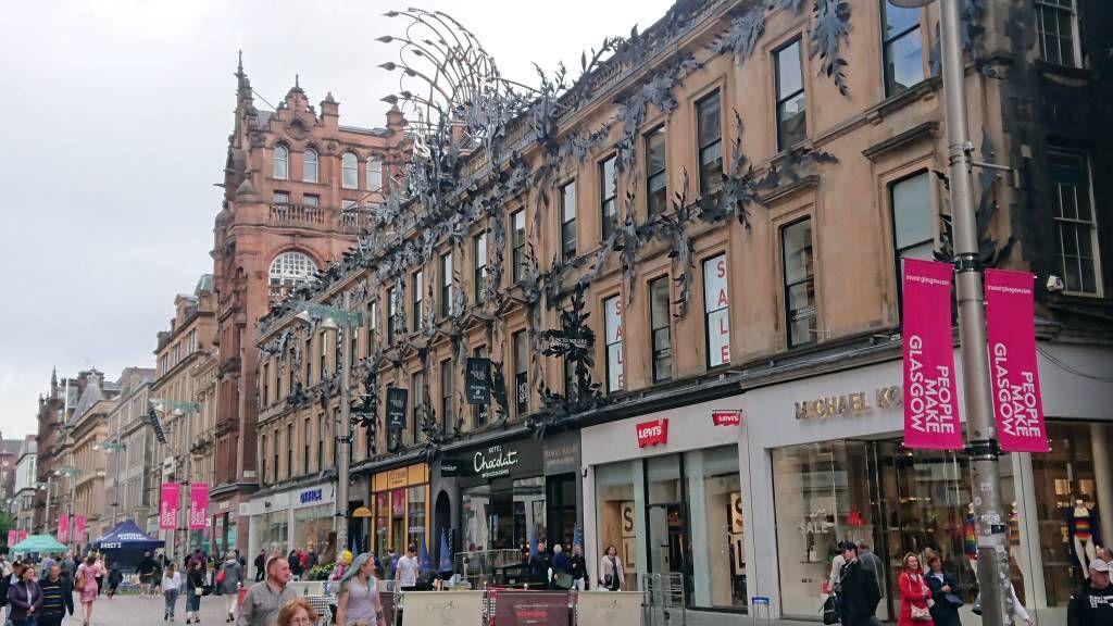 Glasgow, Straßenfront