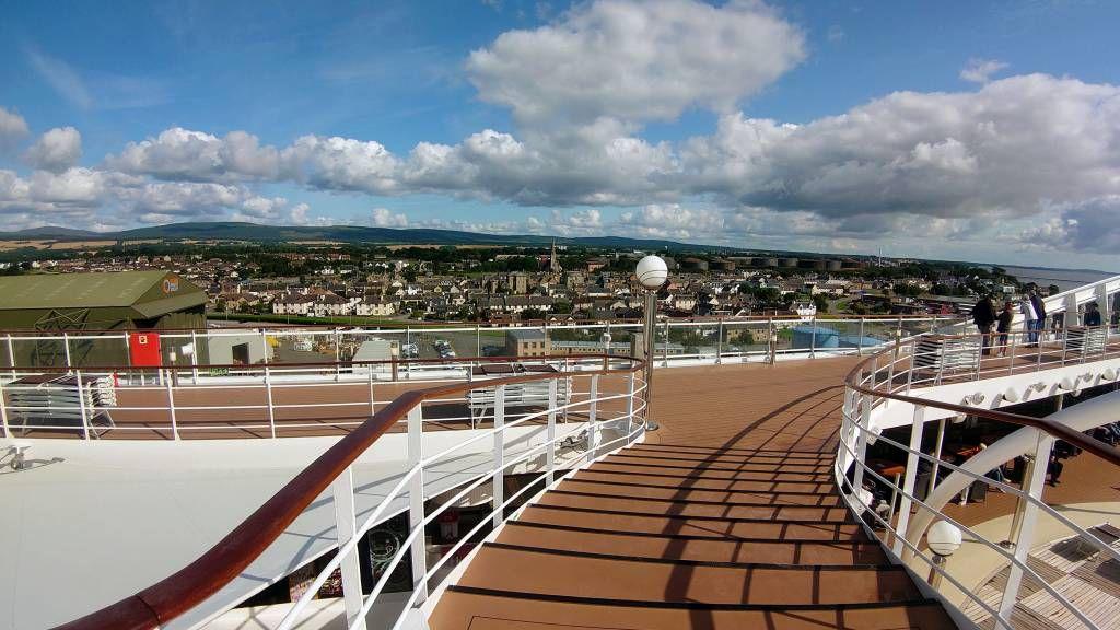 Schottland, Invergordon, Ansicht vom Schiff