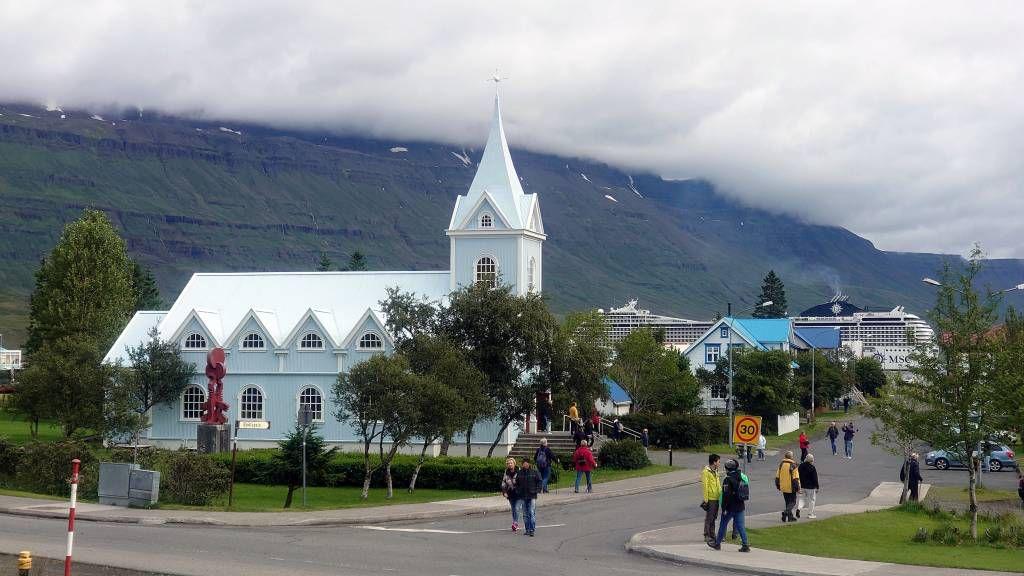 Island, Seyðisfjörður, Ansicht