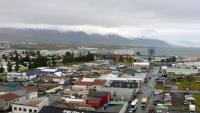 Island, Akureyri, Ansicht vom Schiff