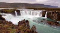 Island, Laugar, Godafoss Wasserfälle