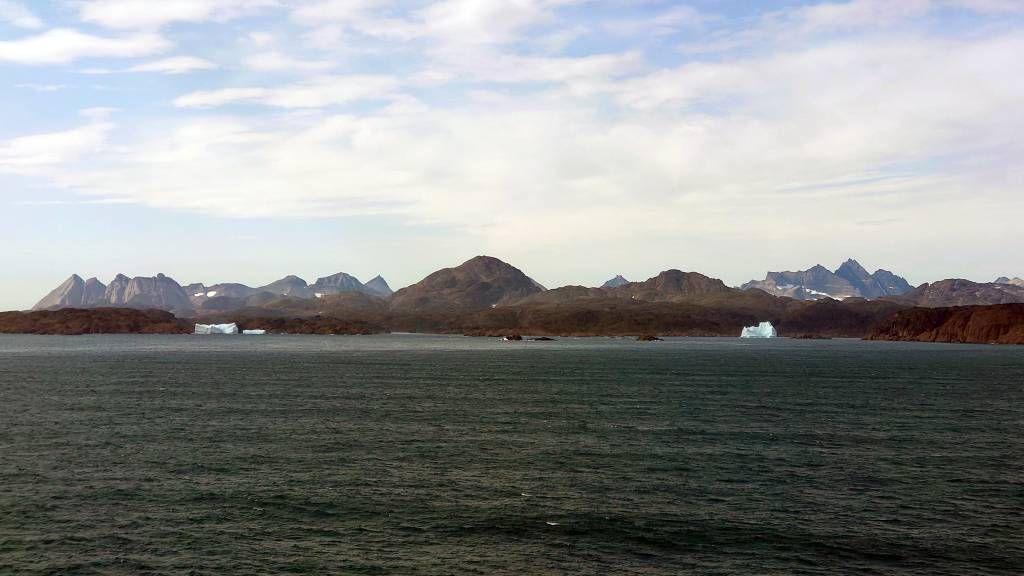Grönland, vor der Einfahrt in den Prinz-Christian-Sund