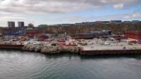 Grönland, Nuuk, Ansicht vom Schiff