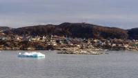 Grönland, Ilulissat, Blick vom Schiff