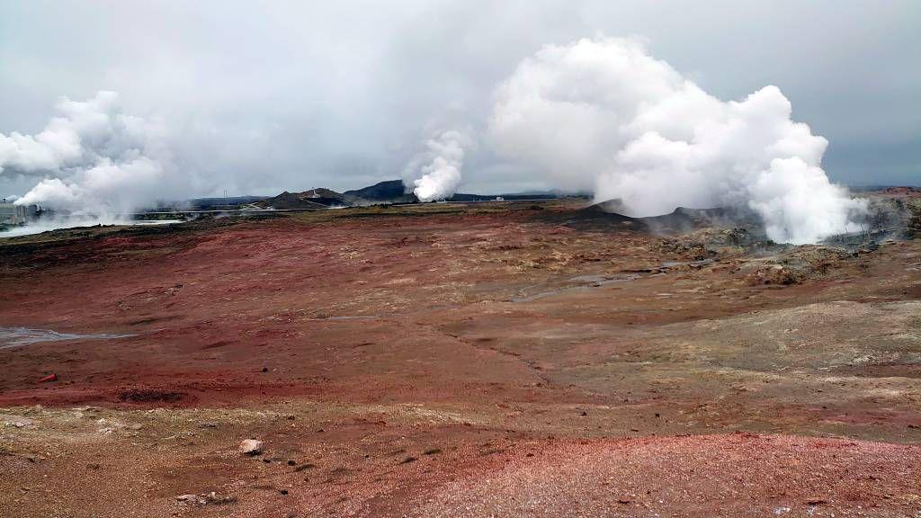 Island, Grindavik, Gunnuhver Geothermalgebiet