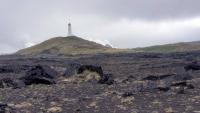 Island, Hafnir, Leuchtturm von Reykjanes