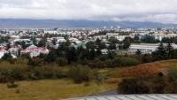 Island, Reykjavik, Blick über den Ort